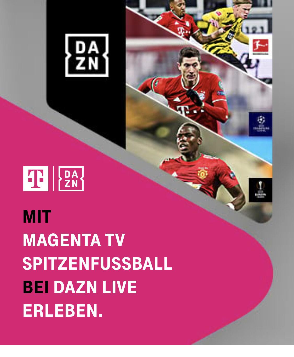 DAZN Jahresabo für Telekom Magenta TV Kunden