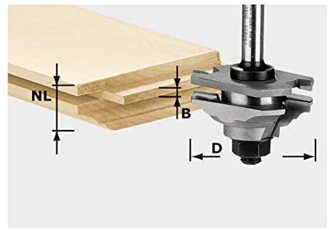 [prime] Festool Profil-Federfräser HW Schaft 8 mm