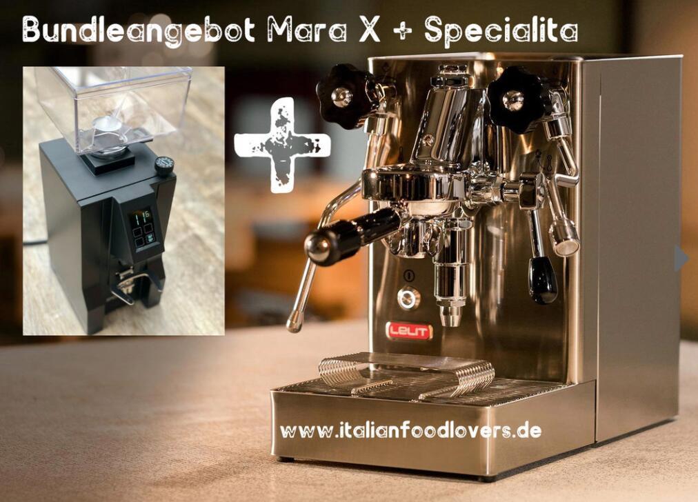 Bundle Lelit Mara X espressomaschine + Eureka New Mignon Specialita schwarz 15BL * Set - Paket