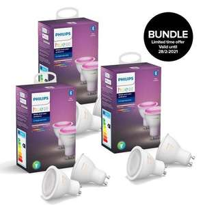 Philips Hue GU10 Color Bluetooth - als 6er Pack 185€ - 4er Pack 127€ - 3% Shoop möglich