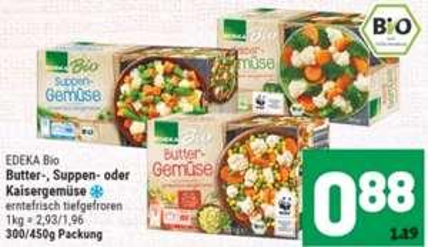 [Marktkauf Minden-Hannover] Edeka Bio Buttergemüse mit Deutschland Card App für effektiv 0,68€ pro Stück (mehrmals möglich)