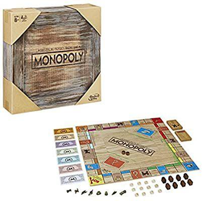 [Amazon] Monopoly Rustic, Sonderedition aus Holz, der Klassiker der Brettspiele, 2-6 Spieler