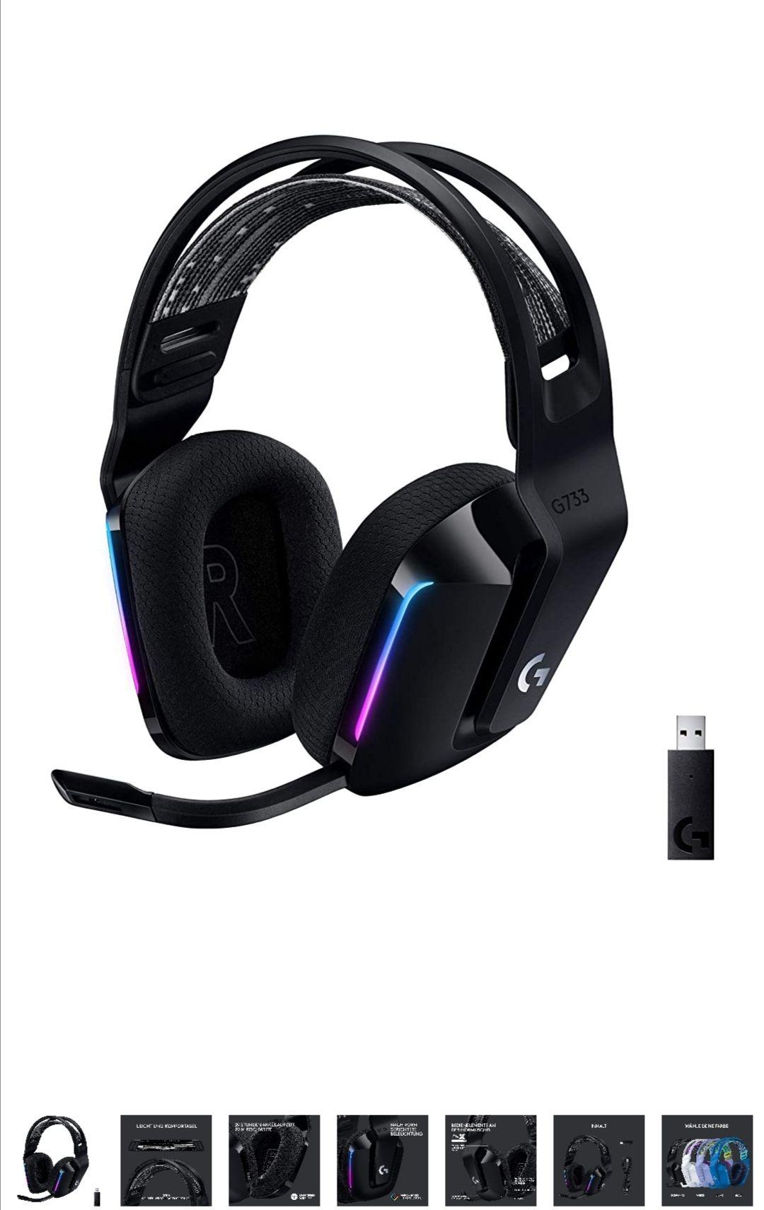 Logitech G733 LIGHTSPEED kabelloses Gaming-Headset, schwarz