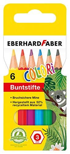 Amazon Prime Eberhard Faber 514906 - Hexagonal-Buntstifte, kurz, 6er Kartonetui 0,95 Euro