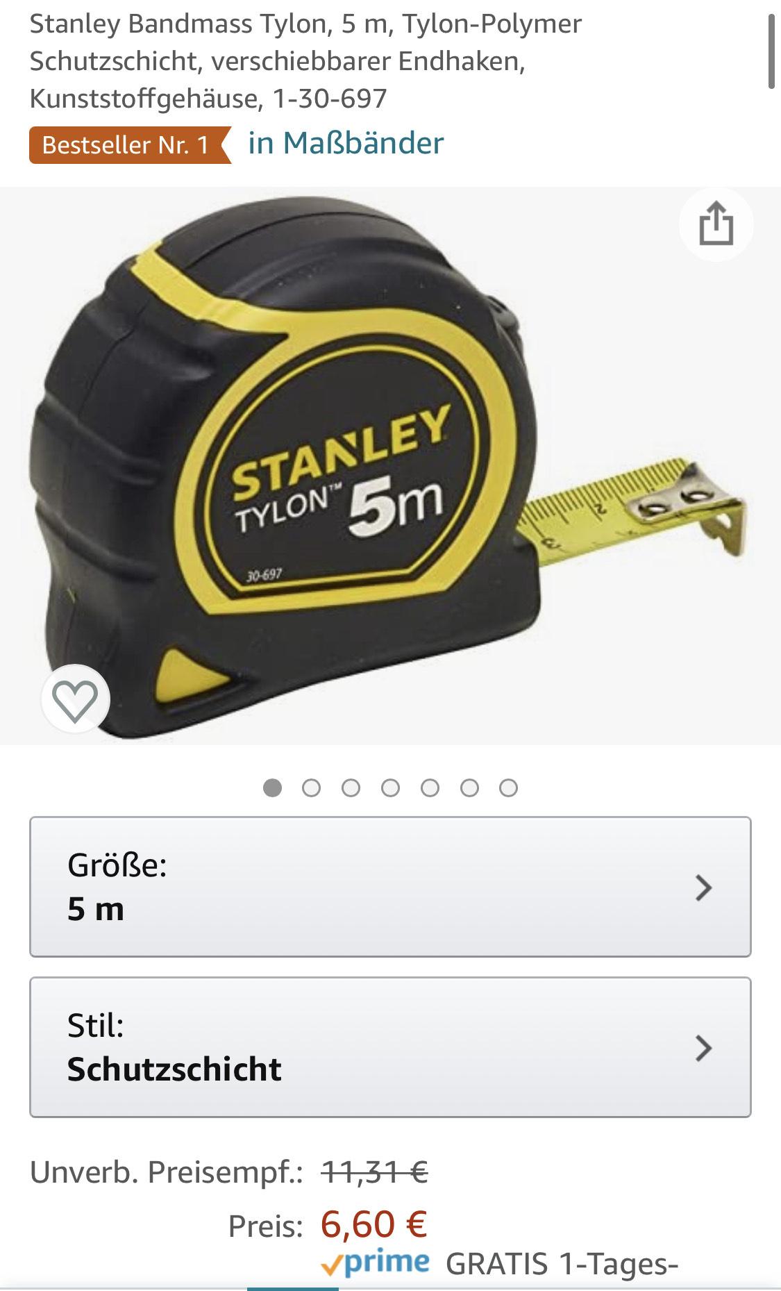 Stanley Bandmaß Tylon (5m)