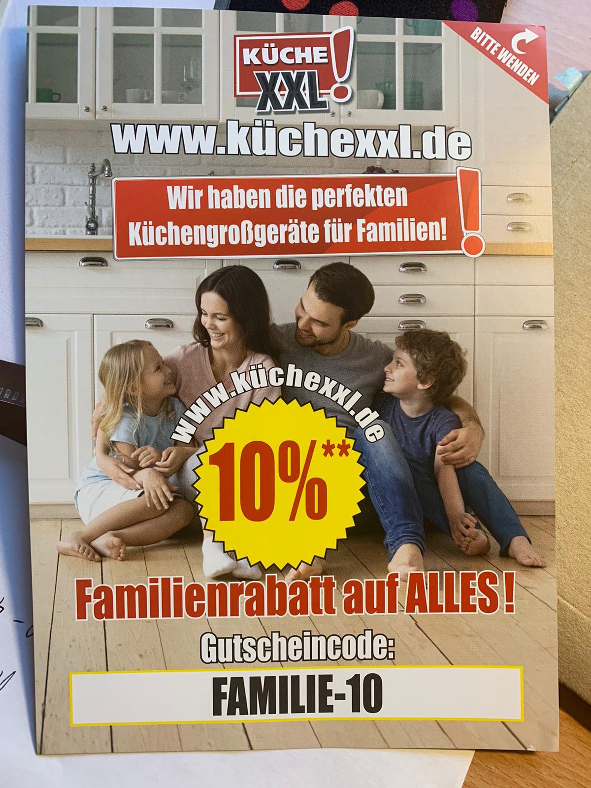 10% auf ALLES bei KücheXXL