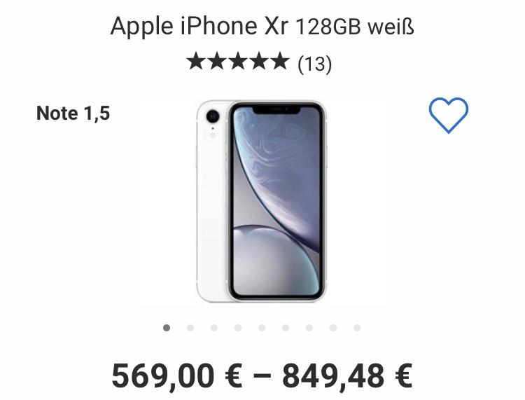 iPhone XR Weiß 128GB