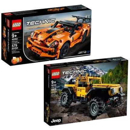 LEGO Technic - 2 in 1 Chevrolet Corvette ZR1 (42093) für 25,49€ +++ Jeep Wrangler (42122) für 33,99€