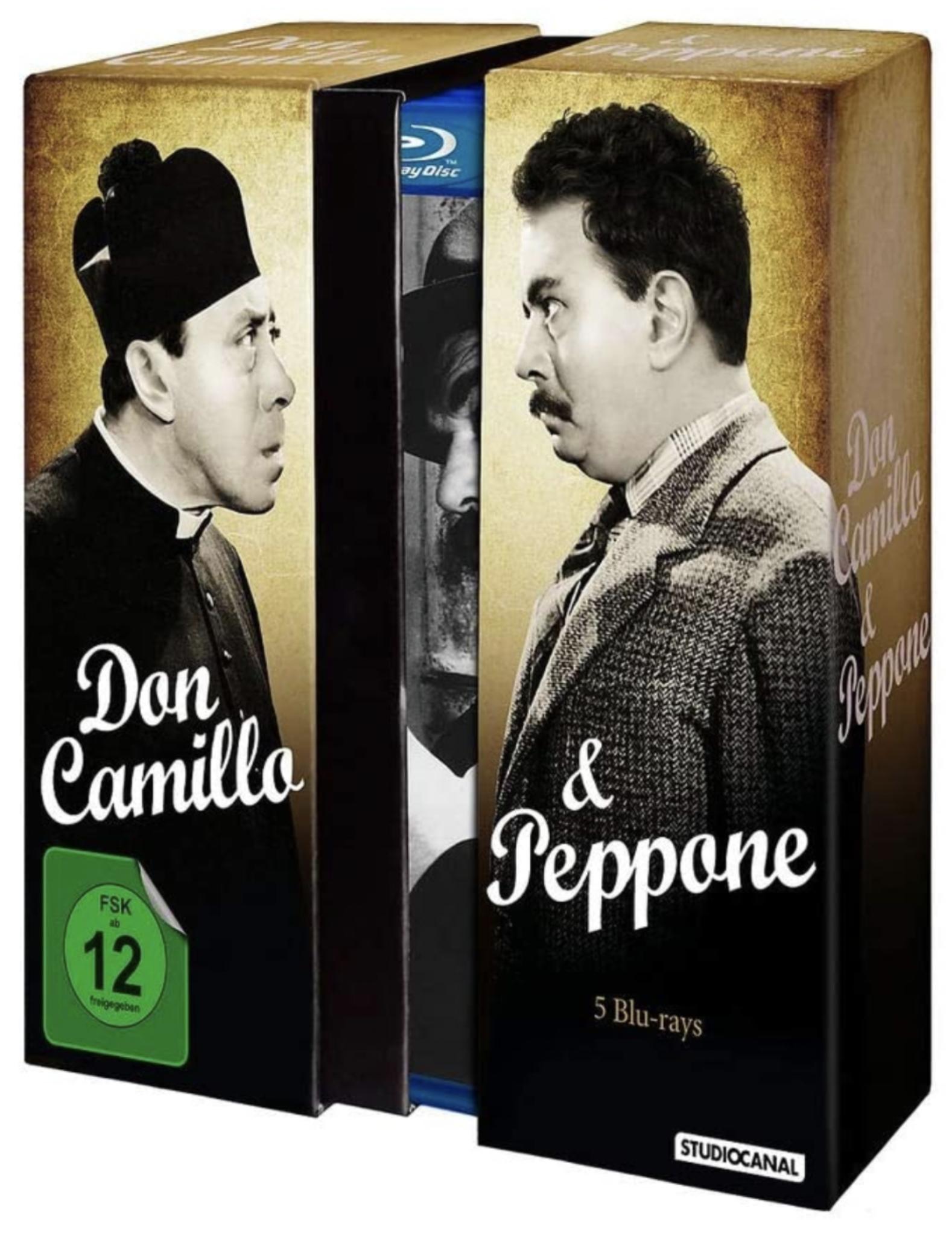 Amazon: Don Camillo & Peppone BluRay Box (5 Filme) für 29,99€