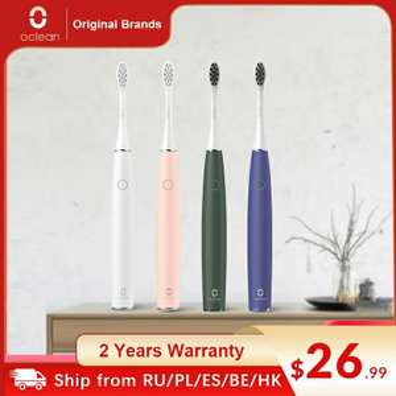 Oclean Air 2 Elektrische Zahnbürste (IPX7 Wasserdicht,2 Bürsten Modi, 2h Ladezeit)