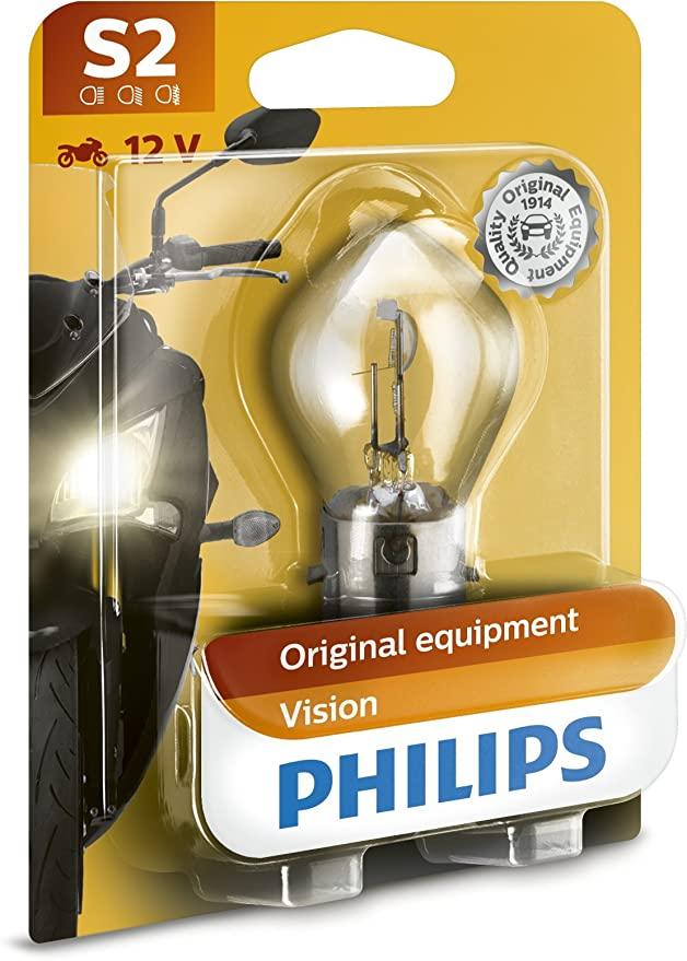 Philips 12728BW Scheinwerferlampe S2 f. Motorrad 12V 35 Watt für 3,49€ mit Prime