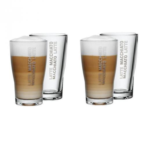 WMF Latte Macchiato Glas 4er-Set BARISTA diesmal zu 13,99 inkl. Versand @ Zwitscher' Dir eins!