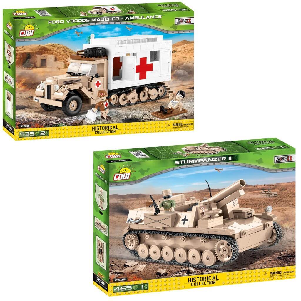 COBI 2528 Sturmpanzer II für 23,39€ und COBI 2518 Ford V3000S Maultier für 25,19€ [Thalia KultClub]