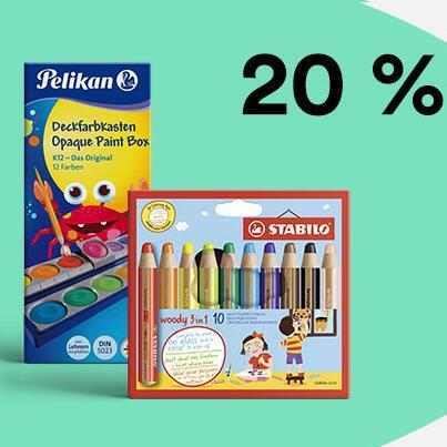 20% auf Schreibwaren, z.B. 24er Set Pelikan Buntstifte für 3,99€ | Schere für 0,71€ | Stabilo Woody 3in1 10er für 9,43€ [Thalia KultClub]