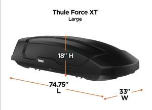 Thule Dachbox Force XT L Black Aeroskin