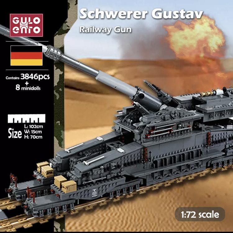 [Klemmbausteine] Schwerer Gustav 3846 Teile aus Polen