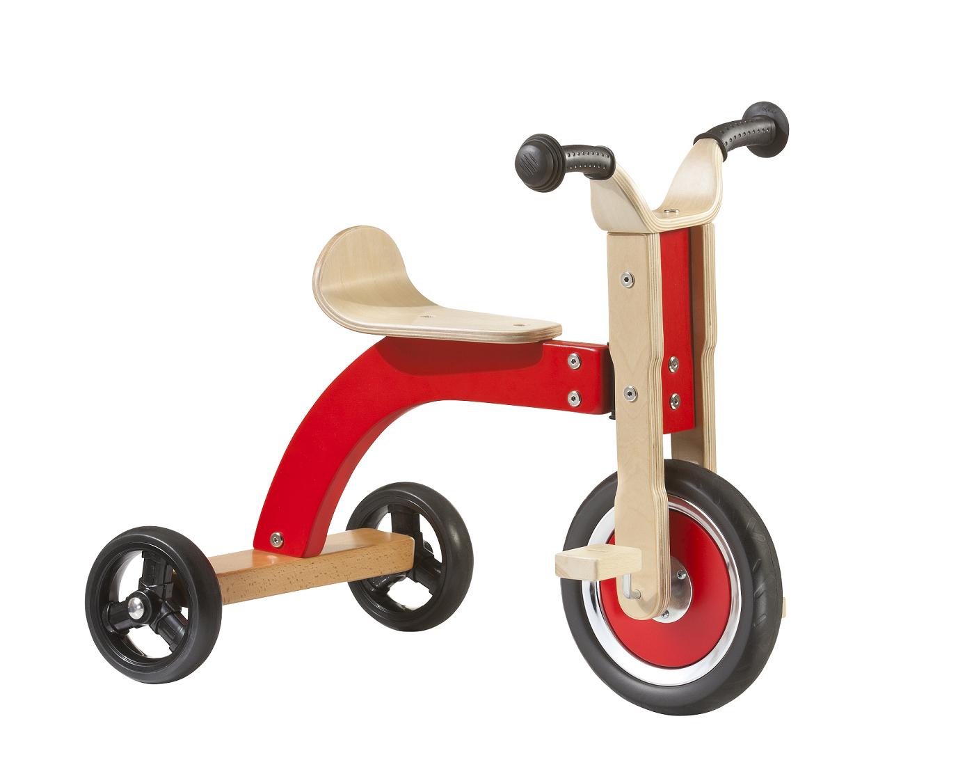 Auslaufartikel - Geuther Dreirad aus Buchenholz mit Plastikreifen, Max. Belastung: 25 kg, Altersempfehlung: 1-5 Jahre, UVP 99€