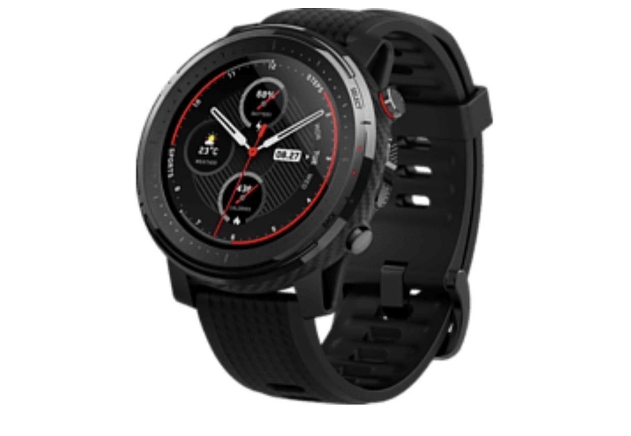 [Saturn/ Media Markt] Huami AMAZFIT Stratos 3 Smartwatch Polycarbonate + Fiberglas Silikon, 195 mm, Schwarz