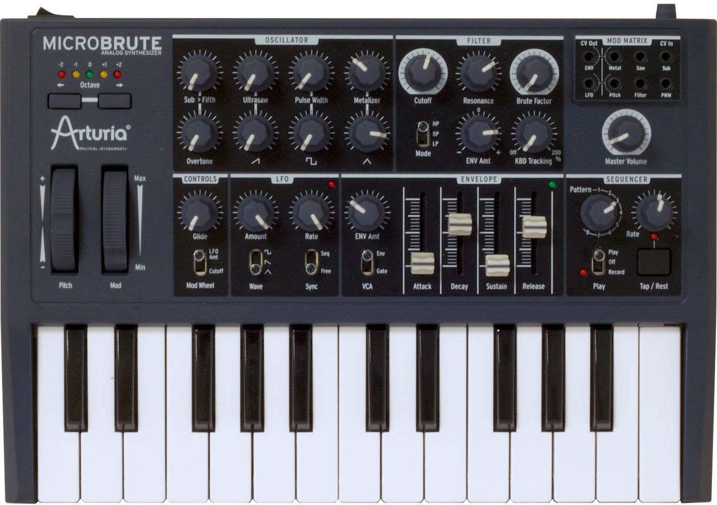 Arturia MicroBrute, monophoner Analogsynthesizer [Musikinstrumente]