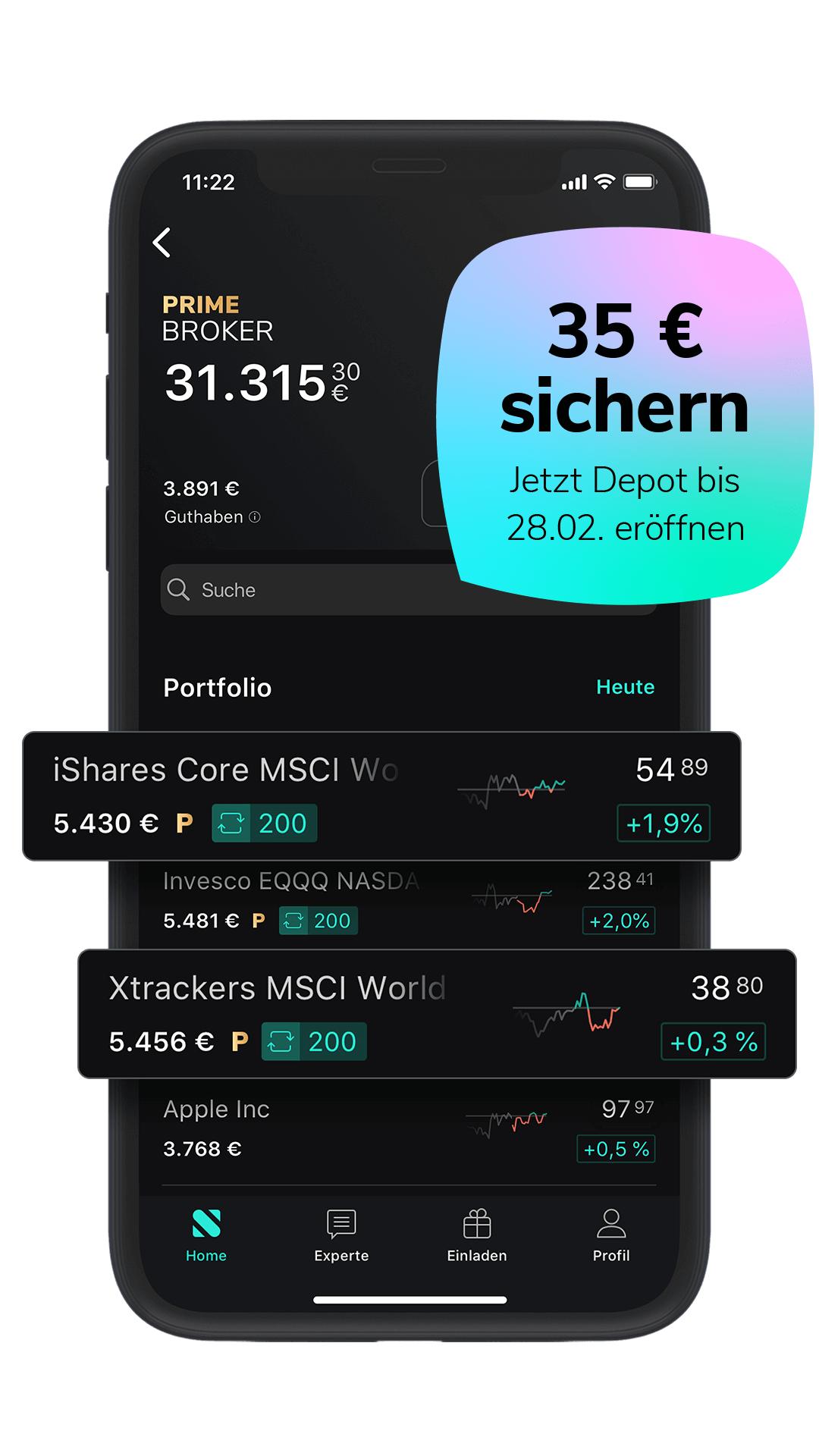 Scalable Capital Neukunden und Bestandskunden im free/flex: 12 Monate Prime Broker für 0,88€