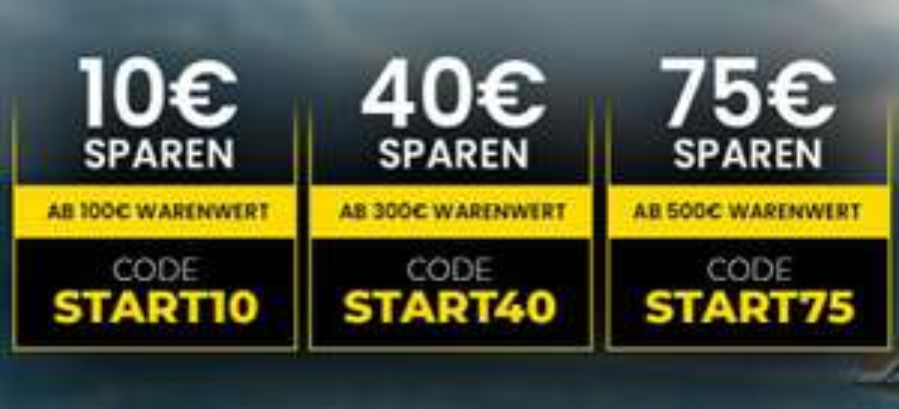 FC Moto Rabatte 10€ bei 100€, 40€ bei 300€, 75€ bei 500€ Warenwert/ 6%Cashback/Motorrad/ VK&RK 3.90€