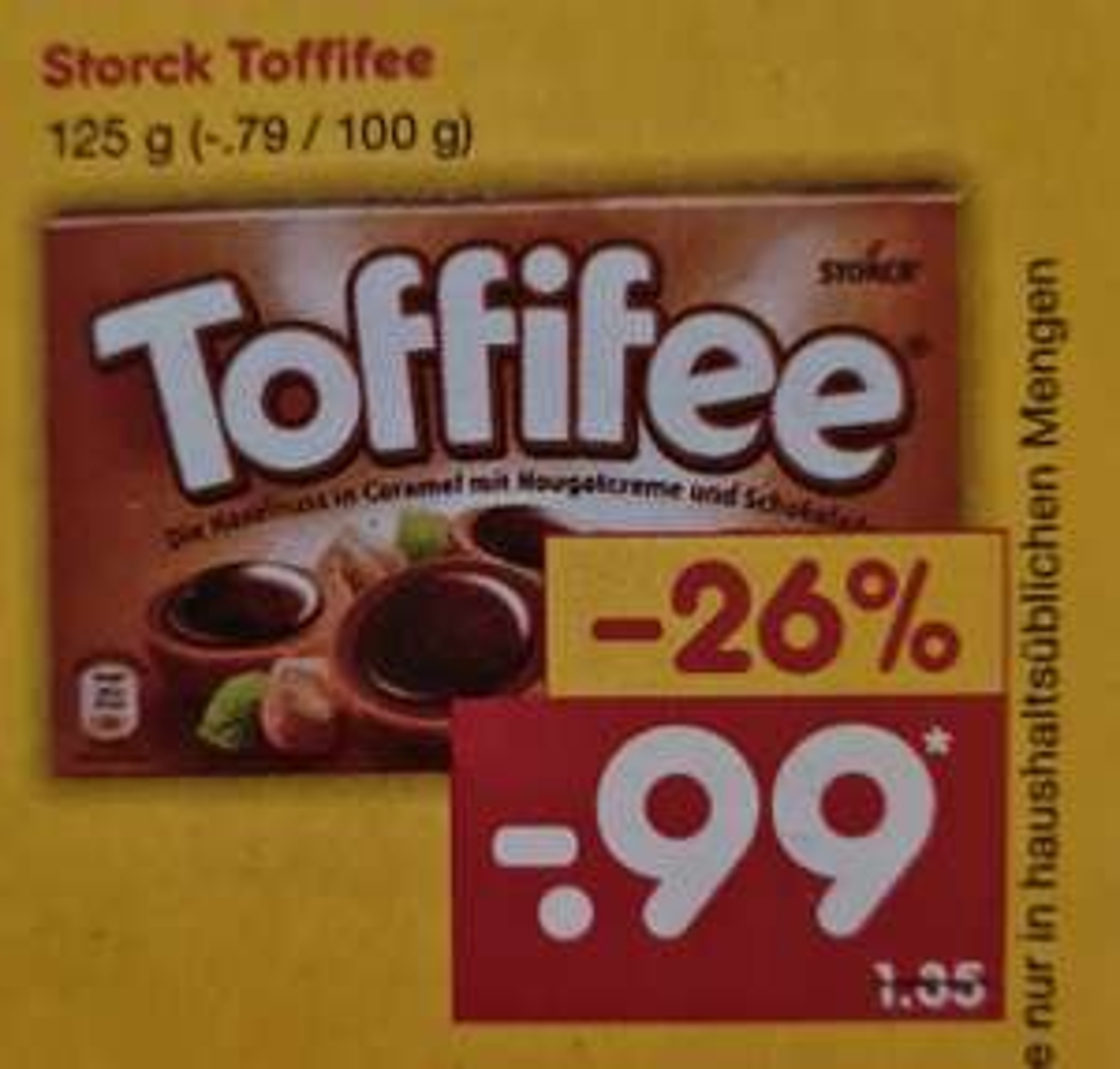 Storck Toffifee 125 g ab 01.03 Netto
