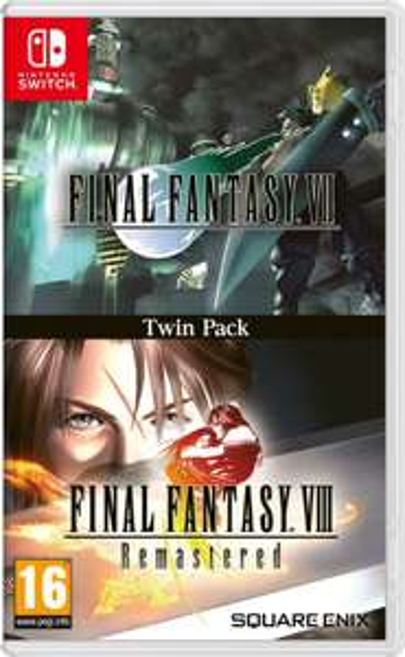 Final Fantasy VII & Final Fantasy VIII Remastered Twin Pack - Nintendo Switch