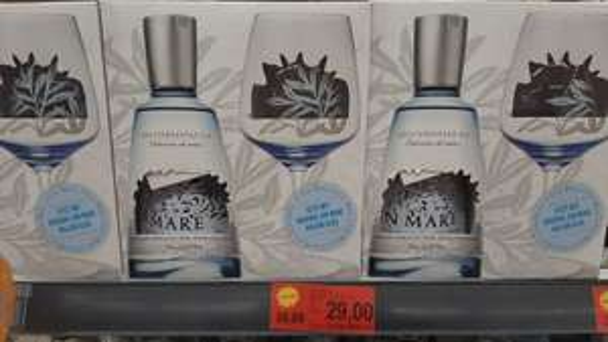 Gin Mare 0,7l mit Glas (lokal?)