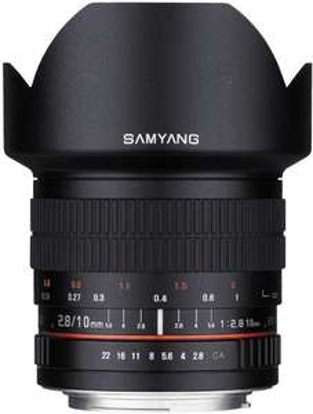 Samyang 10mm F2.8 ED AS NCS CS Objektiv für Canon EF-Mount (APS-C) inkl. 5 Jahre Garantie