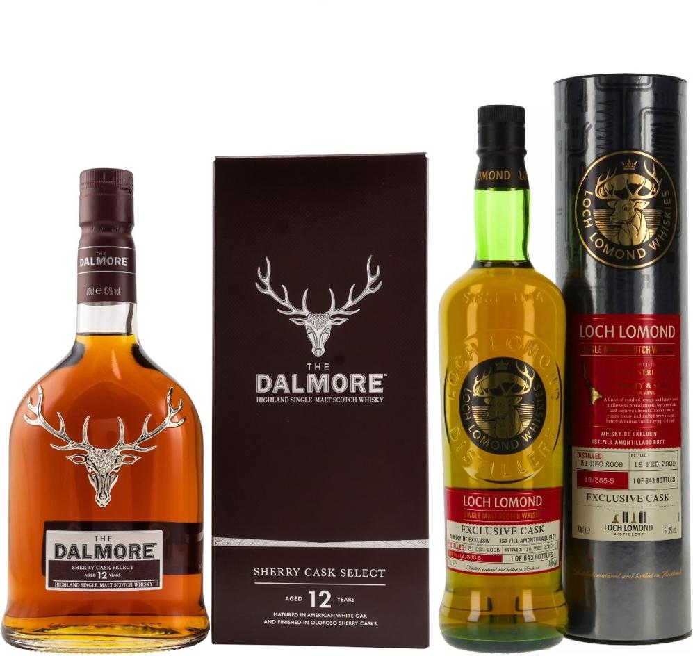 Whisky-Übersicht #76: z.B. Dalmore 12 Sherry Cask Select für 58,90€, Loch Lomond 2008/2020 Amontillado Single Cask für 74,90€ inkl. Versand