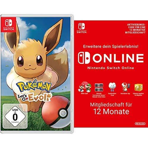 Pokémon: Let´s Go, Evoli! (Nintendo Switch) + Switch Online Mitgliedschaft 12 Monate (Switch Download Code)