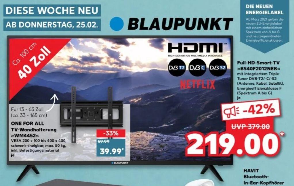 Blaupunkt 40 Zoll Full-HD-Smart-TV