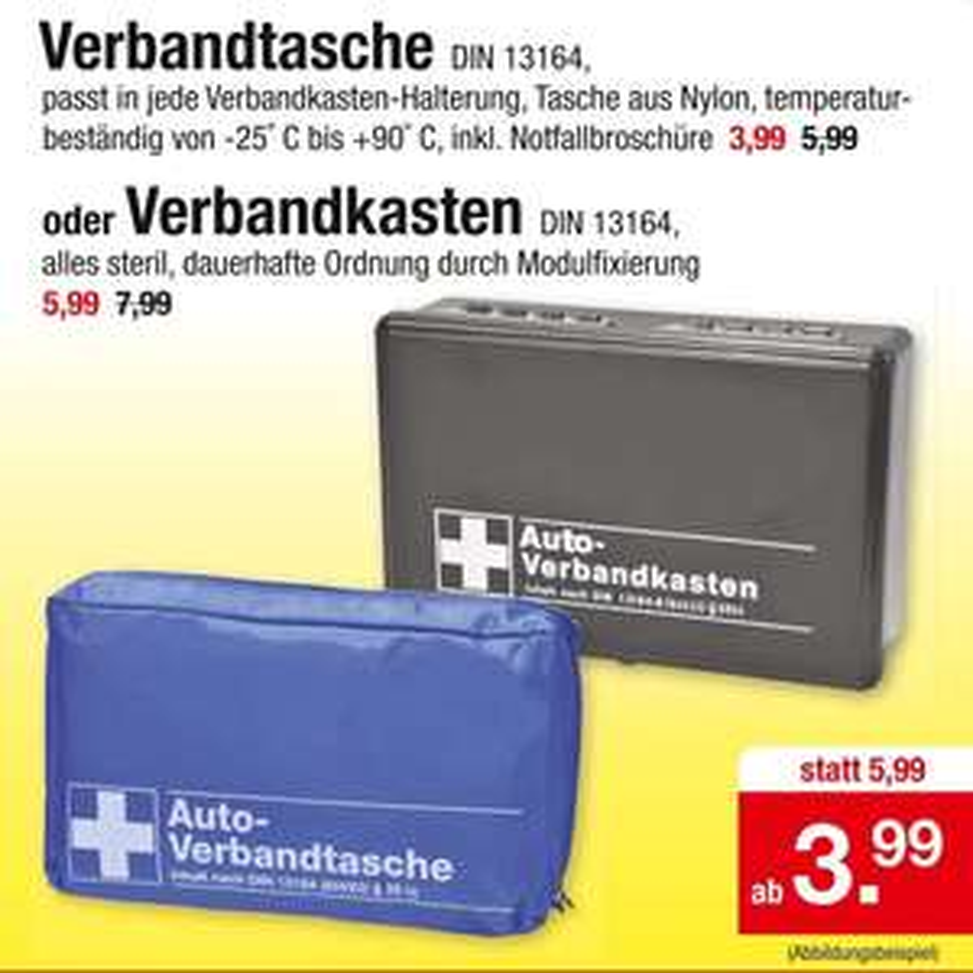 Verbandtasche DIN 13164 ab 3,99€