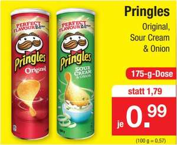 Pringles Original oder Sour Cream & Onion für 99 Cent [Zimmermann]