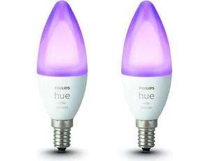 2er Pack Philips Hue White and Color Ambiance E14, 5,3 W, RGBW, Einstellbare Farbtemperatur, 2 Stk.