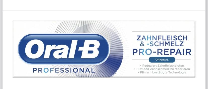 Oral-B Zahnpasta - 1€ Rabatt [nur im Handel]