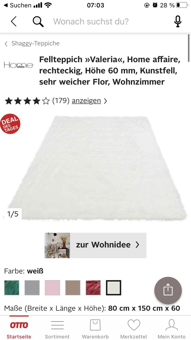 "Fellteppich ""Valeria"", rechteckig, Höhe 60mm, Kunstfell"