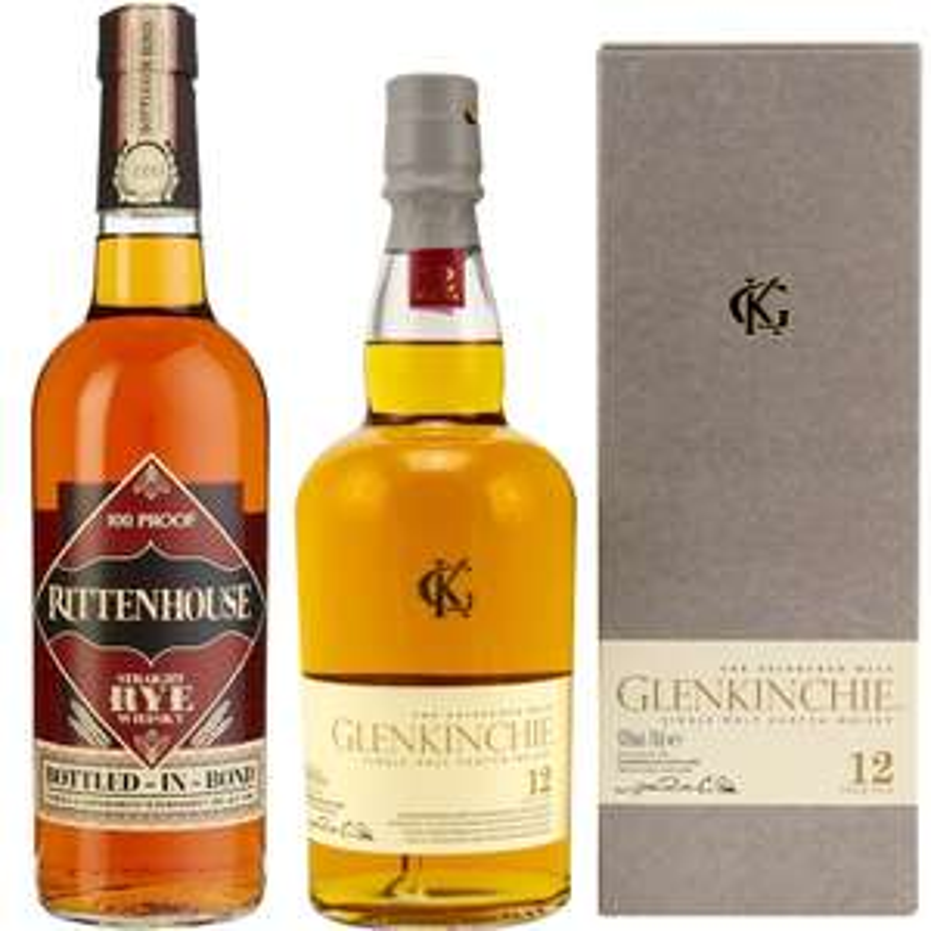 Whisky-Übersicht #77: z.B. Rittenhouse Straight Rye Whiskey für 25,49€, Glenkinchie 12 Single Malt Scotch Whisky für 26,99€ inkl. Versand