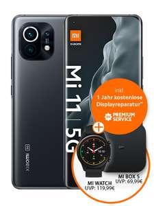 [Young MagentaEINS] Xiaomi Mi 11 256GB mit Watch und TV Box im Telekom Magenta Mobil S (12GB 5G) | Mobil M (24GB 5G, StreamOn Video) 879,75€
