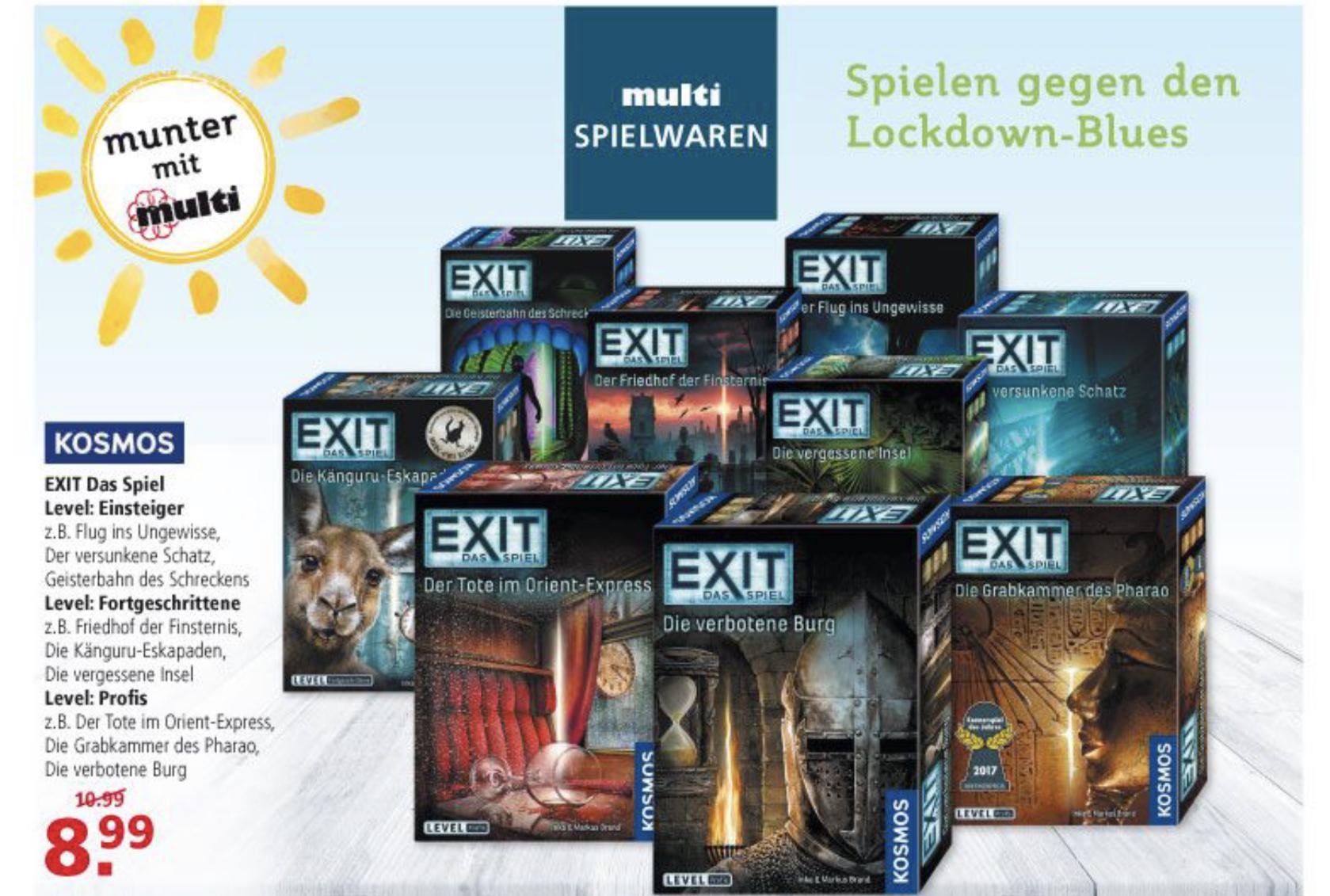 [Offline Ostfriesland] Verschiedene Kosmos Exit Spiele bei Multi