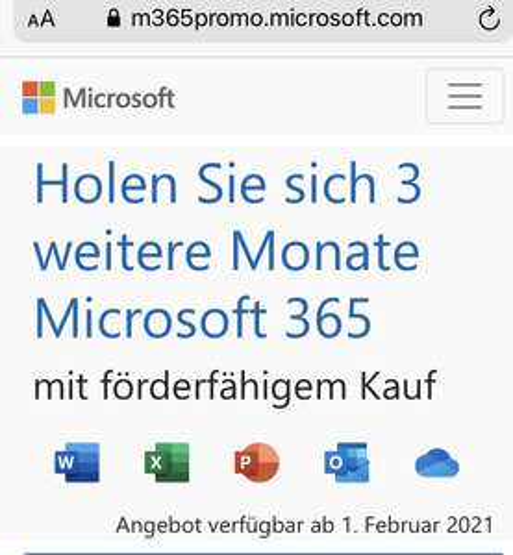 Microsoft 365 3 extra Monate