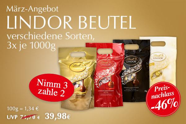 [LINDT] Lokal in Aachen: Werksverkauf mit März-Angebot (Lindor Beutel 3 für 2 Aktion)