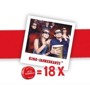 18x Sinalco Aktionsflaschen kaufen und 2-für-1 Kinojahreskarte erhalten (für UCI und viele kleinere Kinoketten)