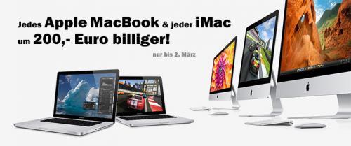 Alle MACs (Macbook Pro, Mac Pro und iMac) 200€ billiger [Österreich]