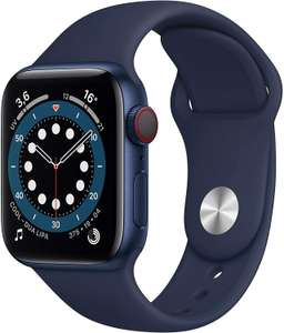 Apple Watch Series 6 (GPS + Cellular) 40mm Aluminium blau, Sportarmband dunkelmarine (Amazon.es)