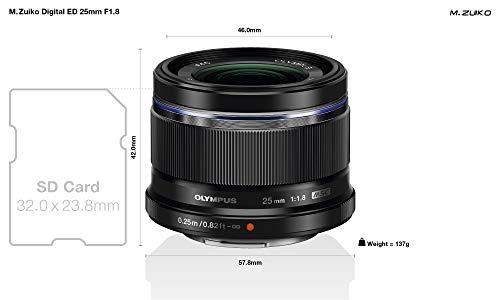 Olympus M.Zuiko Digital 25mm F1.8 Objektiv MFT schwarz