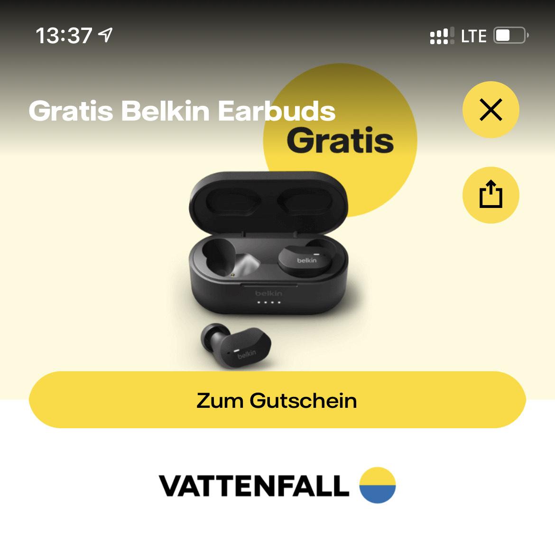 [Vattenfall] Gratis Belkin Soundform Earbuds bei tink-Einkauf (MBW: 20€)