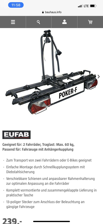 [lokal] Eufab Poker - Bauhaus Tiefpreisgarantie