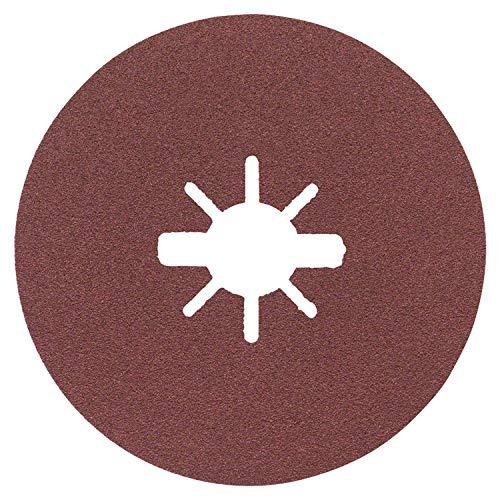 (Prime) Bosch Professional Fiberschleifscheiben Expert (für Metall, X-LOCK, R444, Ø125 mm, Körnung 100, BohrungsØ: 22,23 mm)