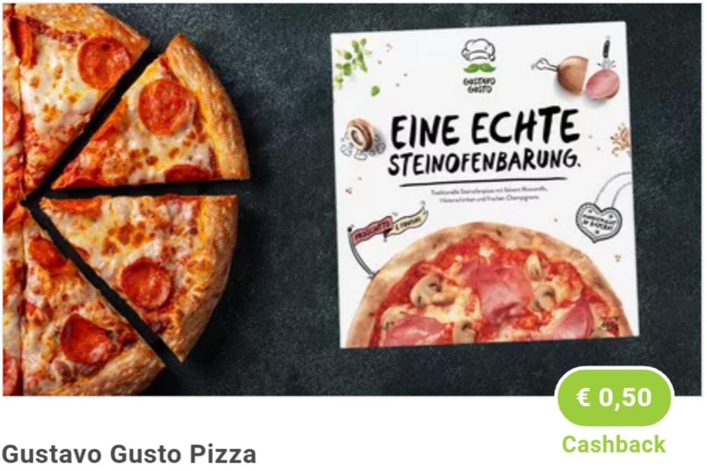 0,50€ Cashback beim Kauf vonGustavo Gusto Pizzadeiner Wahl [Marktguru]